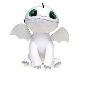 PELUCHE Peluche Dragon 3 bébé dragon blanc 30 cm
