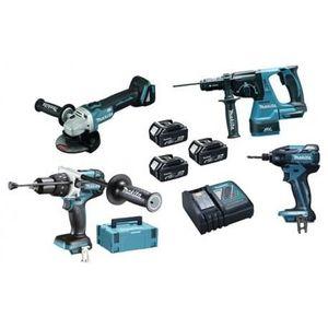 PACK DE MACHINES OUTIL Pack 4 outils MAKITA DLX4050TJ à batteries LXT 18V