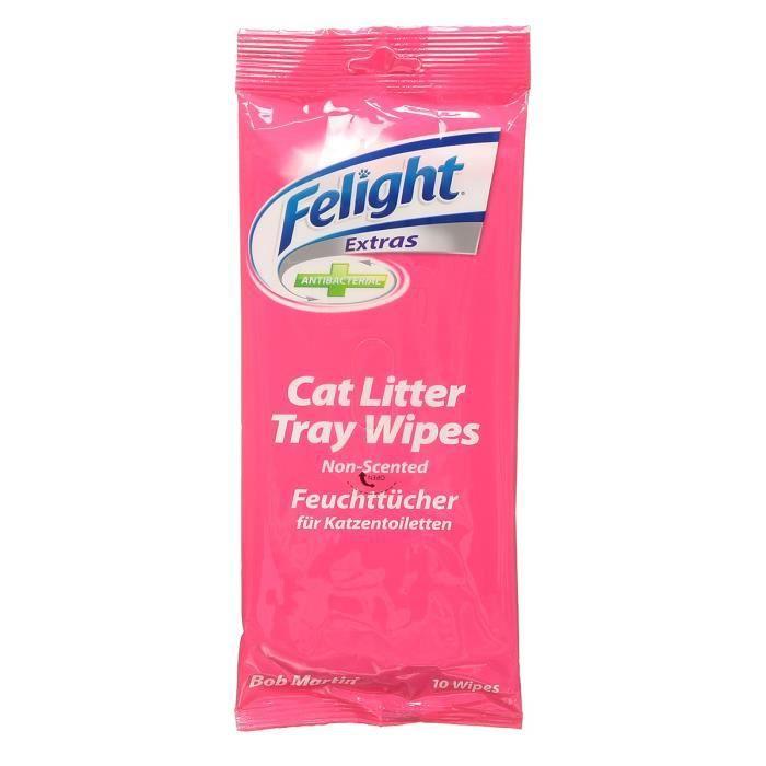 FELIGHT Lingettes nettoyante litière pour chat x 10