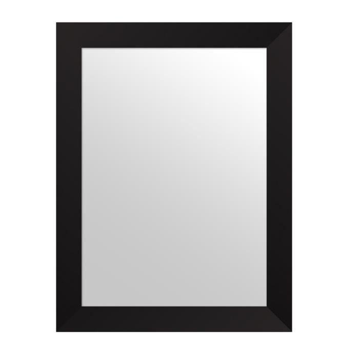 mirra miroir rectangulaire 50x70 cm noir achat vente On miroir noir rectangulaire
