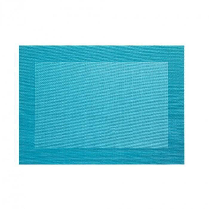 asa set de table bord pvc bleu turquoise 33 x 46cm 78078076 achat vente set de table. Black Bedroom Furniture Sets. Home Design Ideas