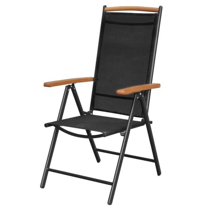chaise magnifique vidaxl chaises pliables 2 pcs 58x65x109 - Chaises Pliables