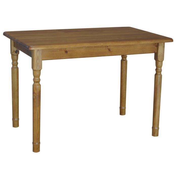 table 60 x 80 cm ch ne couleur rectangulaire pour cuisine ou salle manger pin cir 100. Black Bedroom Furniture Sets. Home Design Ideas