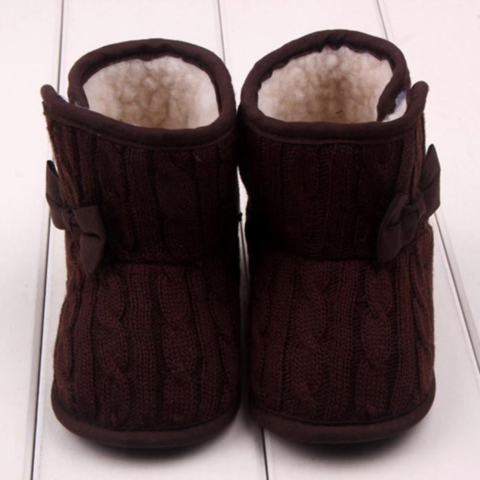 """"""" Bébé bowknot douce Sole hiver Chaussures chaudes Bottes"""""""