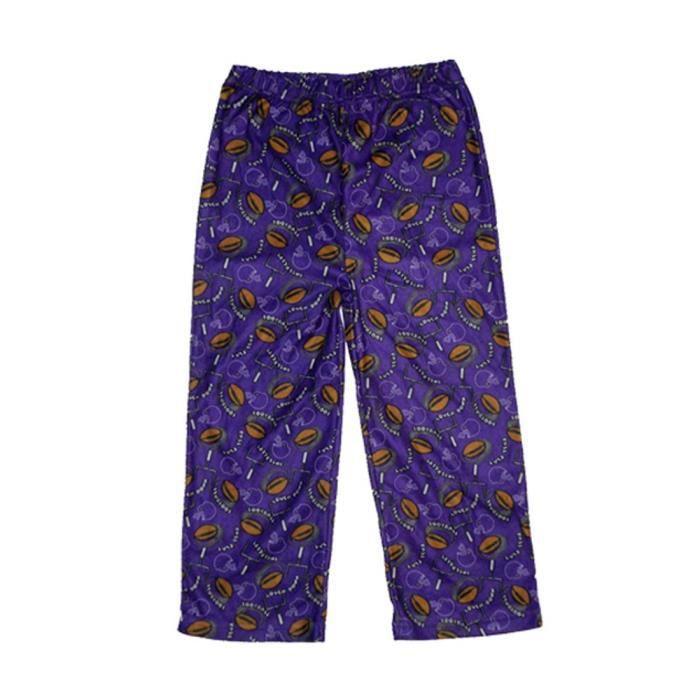 ec544a4d62347 garçons ou filles polaire pyjama vêtements de nuit - violet et marron  1YPTSM Taille-S