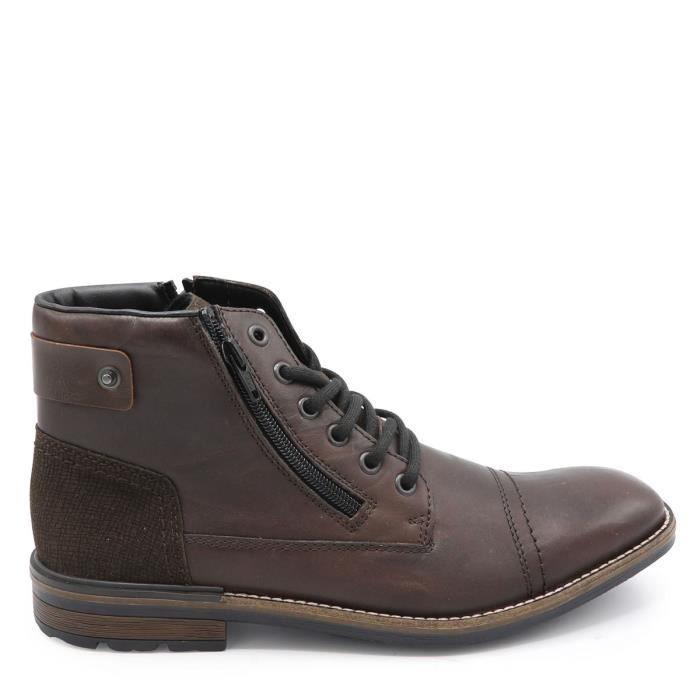 Boots Vente Bottine RiekerMarron Soldes Hommes Achat NnZ8OkX0Pw