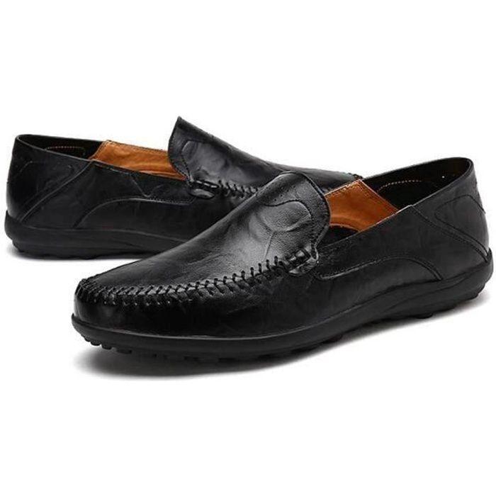 8af916fa3ba ... Grande Taille Confortable Classique Loafer moccasins homme cuir.  MOCASSIN Chaussures homme en cuir 2017 nouvelle marque de l