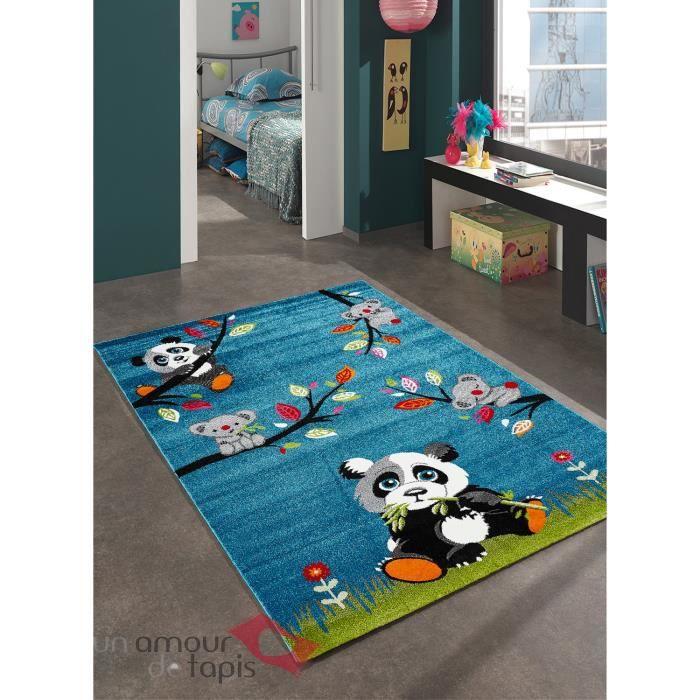 Tapis chambre enfant SKY PANDA bleu 160x230, par Unamourdetapis ...