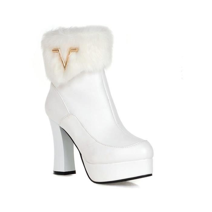 GLAM®les bottes avec les épaisses bottes à talons unique au printemps