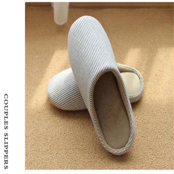 Chaussons Couple Classique Simple Meilleure Qualité Doux Antidérapant Hiver Léger Homme Chausson Chaussure Nouvelle Beau Mode 40-45
