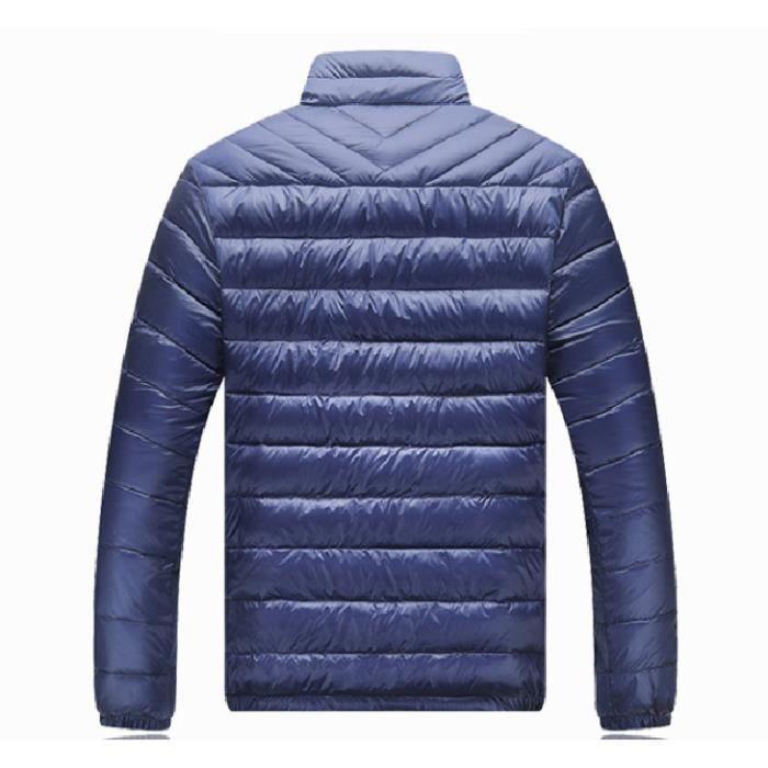 Longues Homme Montant Simple Épaisse Violet Col noir Chaud bleu Flavor Doudoune Court Légère Manches Yd4pww