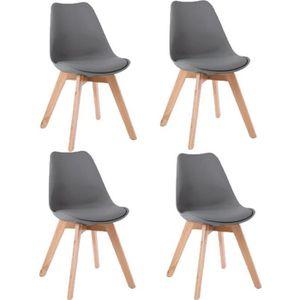 CHAISE Lot de 4 chaises scandinaves coloris gris foncé St