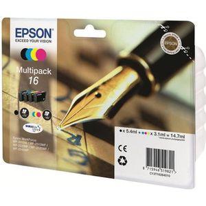 CARTOUCHE IMPRIMANTE EPSON Multipack T1626 - Stylo Plume - Noir, Cyan,