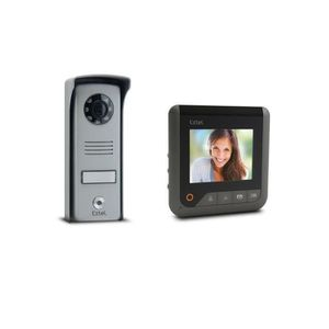 INTERPHONE - VISIOPHONE EXTEL Visiophone Look 2 fils gris avec écran coule