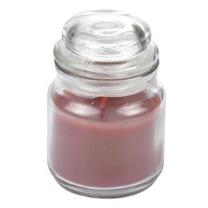 BOUGIE DÉCORATIVE Bougie parfumée en bocal - Ø 6 x H 9 cm - Parfum :