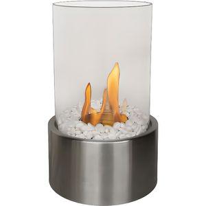 CHEMINÉE Disis, une cheminée de table tout en rondeur verre
