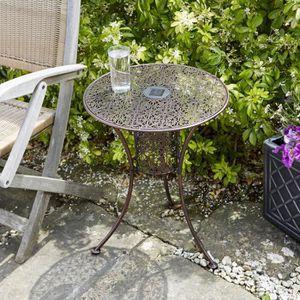 Petite table de jardin metal - Achat / Vente pas cher