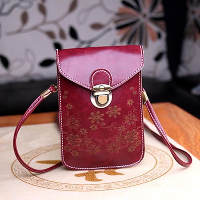 wtx4419966 Portefeuille Diagonale Épaule Mini Style Téléphone Estimetown®enveloppe Portable Rétro Tq6Pt