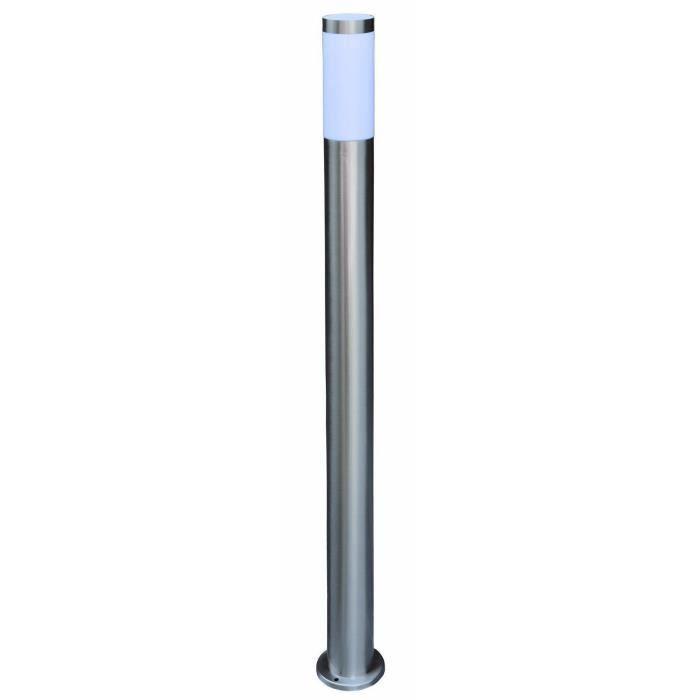 Grande Lampe Borne Inox Design Potelet 110 Cm Exterieur Jardin