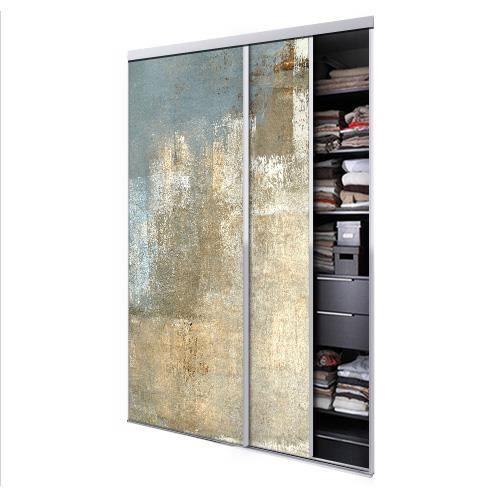 Porte Coulissante Placard 2 Vantaux : tixelia porte de placard coulissante 2 vantaux wall ~ Premium-room.com Idées de Décoration