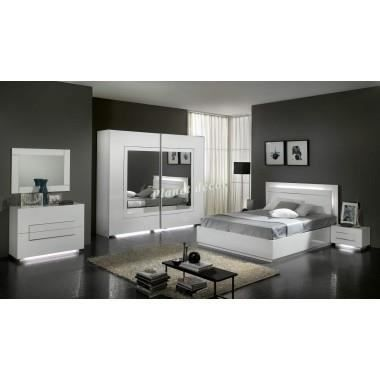 Chambre coucher adulte model city armoire h 240 achat for Chambre complete adulte cdiscount
