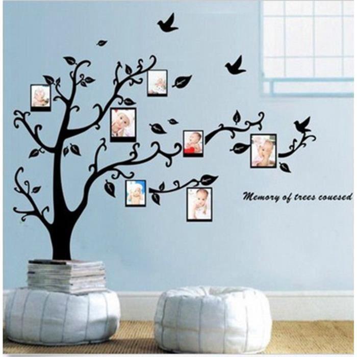 Diy stickers mural arbre cadre photo autocollant maison for Autocollant mural