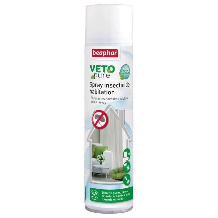 Beaphar Spray Insecticide Vetopure - Pour Chien Et Chat 400ml