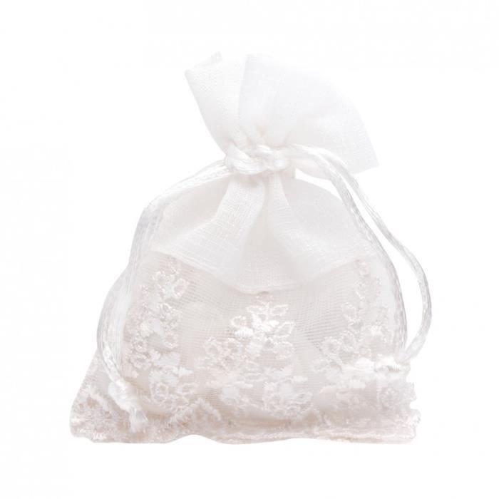 Sachet Tissu Dragées 10 sachets à dragées déco en tissu - achat / vente boîte à dragées