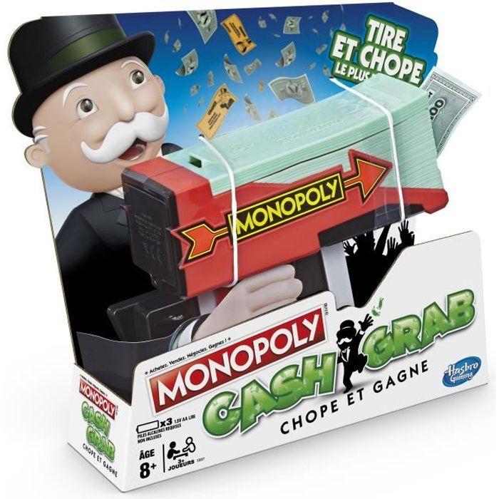JEU SOCIÉTÉ - PLATEAU MONOPOLY - Cash & Grab, Chope et Gagne ! - Jeu de