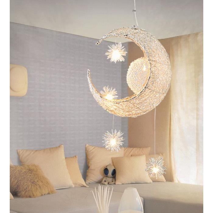 Iztoss suspension d corative lune etoile lustre en aluminium lampe pour enfant chambre caf - Etoile lumineuse pour chambre ...