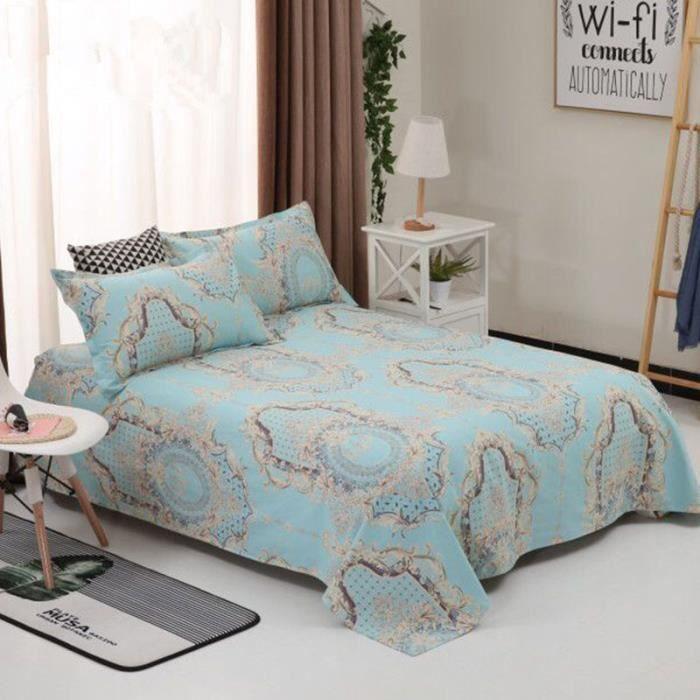Ensemble Dessus de lit matelassé avec ses le couvre lit Cotton