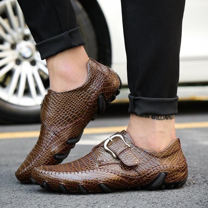Chaussures de conduite Chaussures de mocassins décontractées pour hommes Avec Boucle fVadHs