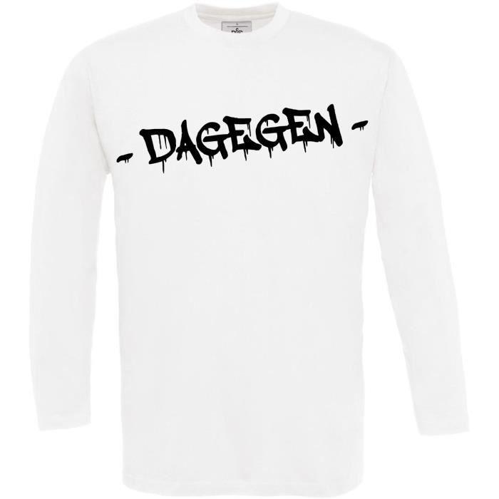 ... blanc Taille   XXL. T-SHIRT 2Store24 T-shirt à manches longues pour  Homme dess 98dec821409b
