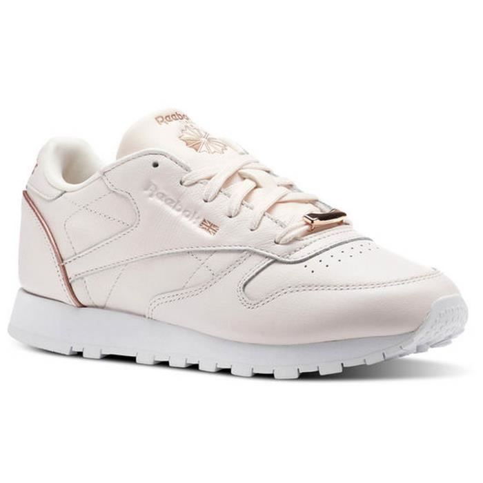 CLASSIC CHAUSSURES BS9880 HW REEBOK LEATHER ROSE fn8wzq