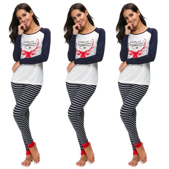 Nuit Noël Longues Pyjama Manches Les shirt De Marine À Set T Notte Pantalon PXxH5Fq