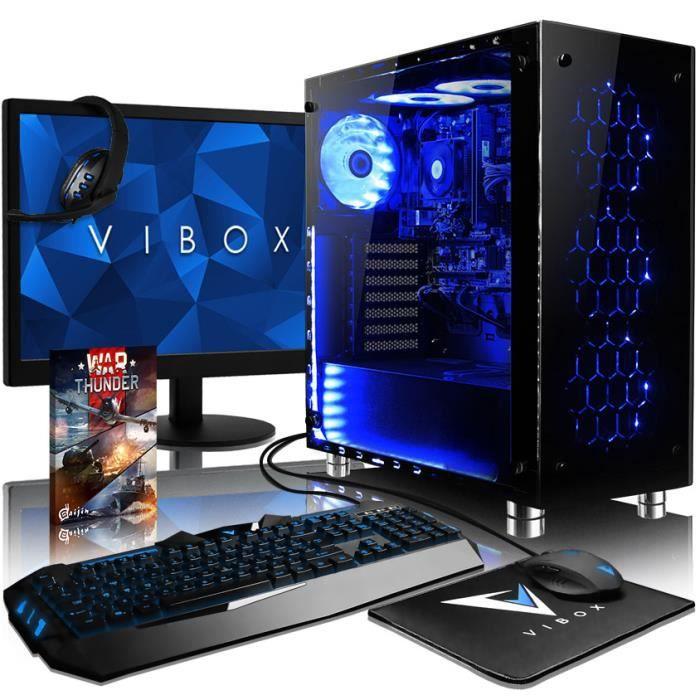 UNITÉ CENTRALE + ÉCRAN VIBOX Nebula RSR570-82 PC Gamer Ordinateur avec Je