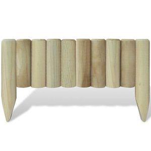 bordure de jardin en bois achat vente bordure de jardin en bois pas cher soldes d s le 10. Black Bedroom Furniture Sets. Home Design Ideas