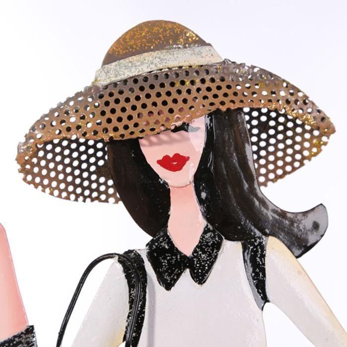 Bijoutiers une fille de shopping en métal(23x12,5x38,5 cm)