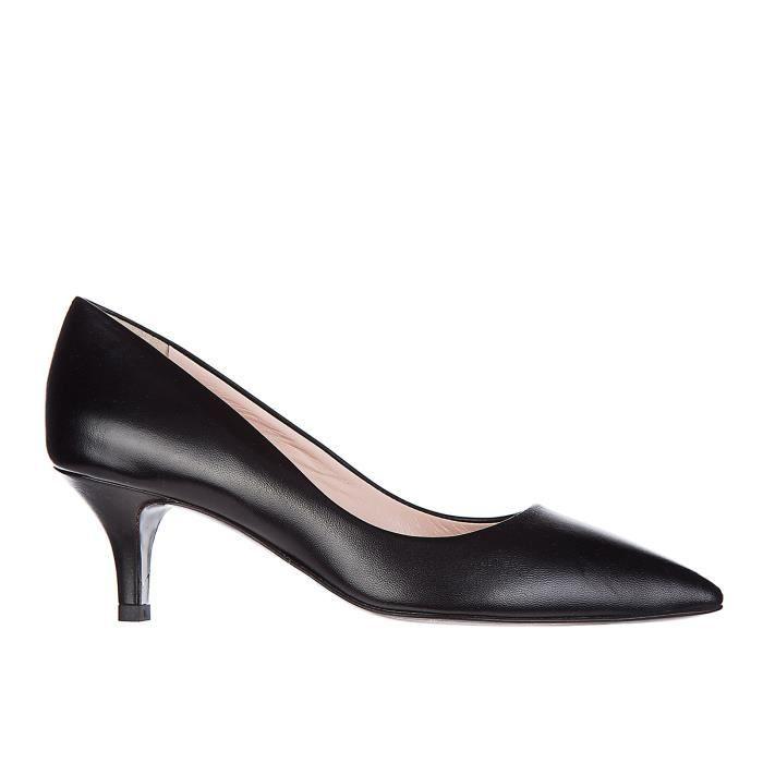 Escarpins chaussures femme 'talon en cuir Manzoni