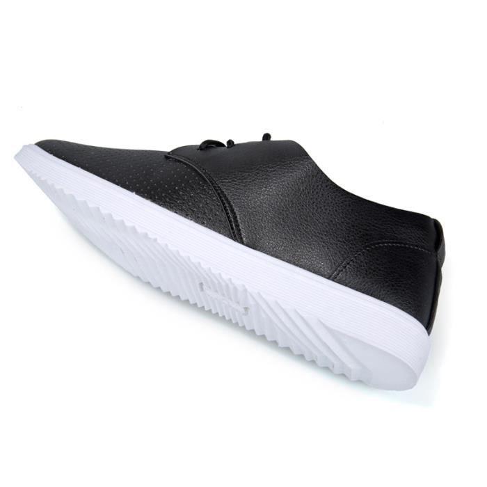 Casual BZH Ete Chaussures Printemps XZ084Noir44 Hommes Occasionnels Cuir Chuassures 6qvwxnP0IP