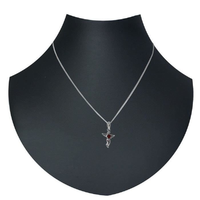 Dans Collections 241a200300890 Argent Ambre Collier avec pendentif 1Z8P0R