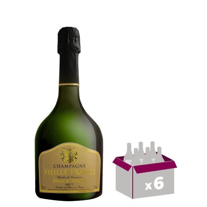 Gh martel vieille france champagne blanc de blancs 75 cl x 6