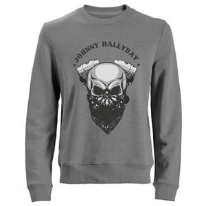 SWEATSHIRT Sweat Biker Johnny Hallyday - Gris
