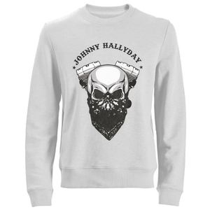 SWEATSHIRT Sweat Biker Johnny Hallyday - Blanc
