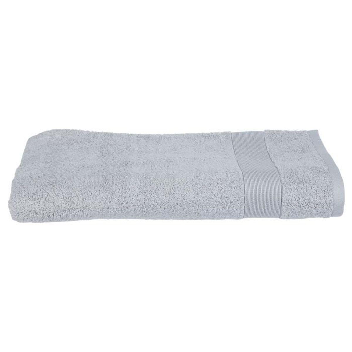Drap de Bain - 100 x 150 cm - Gris Clair - Achat / Vente serviettes ...