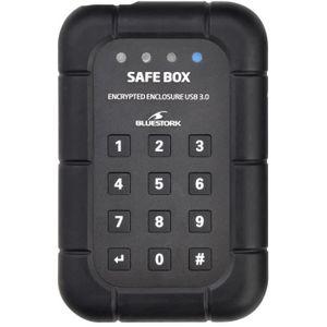 BLUESTORK Boîtier externe sécurisé disque dur SATA 2,5'' Safe Box - USB 3.0 - Noir