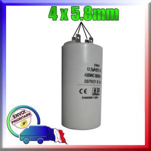 CONDENSATEUR Condensateur de démarrage de 12.5μF / uF moteur SI