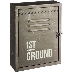 ARMOIRE - BOITE A CLÉ Boîte à clés métallique vintage  Grise