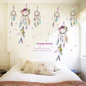OBJET DÉCORATION MURALE Dream Catcher plume artisanat ornement vinyle mur