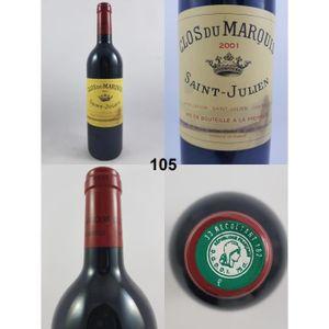 VIN ROUGE Clos du Marquis 2001 - N° : 105, Saint-Julien, Rou